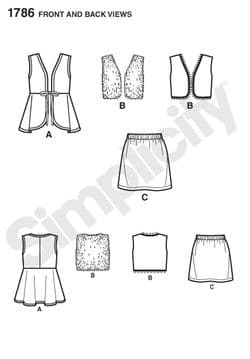1786 Simplicity Pattern: Learn to Sew Child's & Girls' Separates